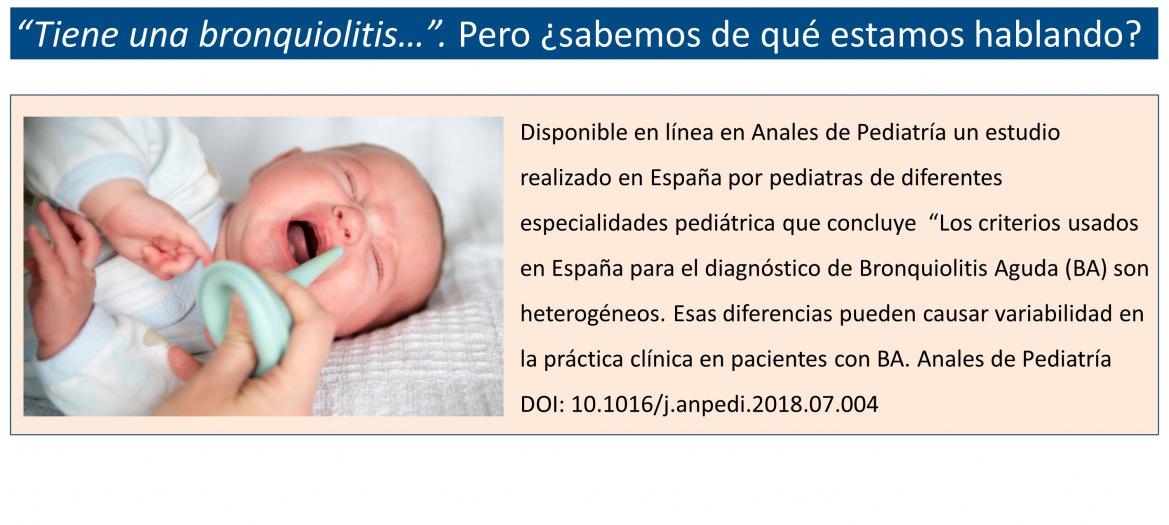 Heterogeneidad de criterios diagnósticos en la bronquiolitis