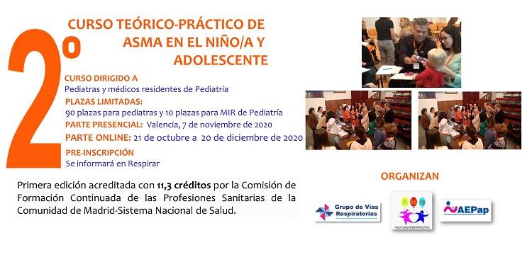Curso-2020 de asma en la infancia y adolescencia. Valencia