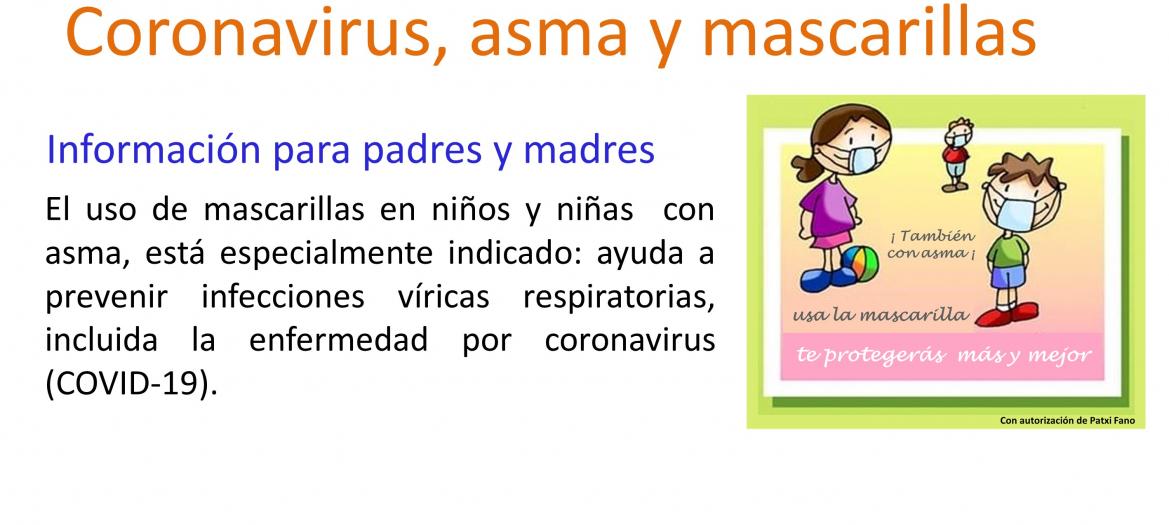 Coronavirus  asma y mascarillas