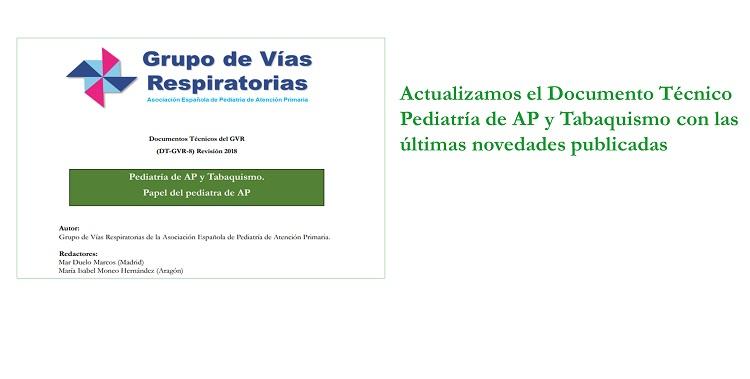 Actualizado documento técnico Pediatría de AP y Tabaquismo