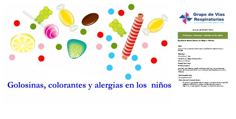 Golosinas, colorantes y alergias en los niños